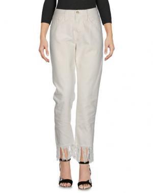 Джинсовые брюки 3x1. Цвет: белый