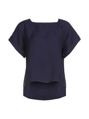 Блузка ZOI. Цвет: темно-синий
