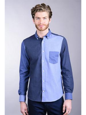 Рубашка Eden Park. Цвет: темно-серый, голубой, синий