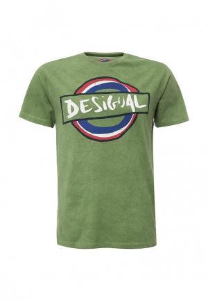Футболка Desigual. Цвет: зеленый