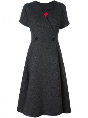 Твидовое платье Ultràchic. Цвет: серый