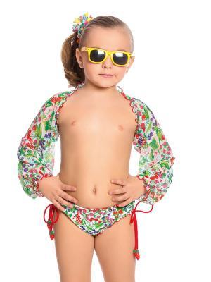 Пляжное болеро для девочек Arina. Цвет: зеленый