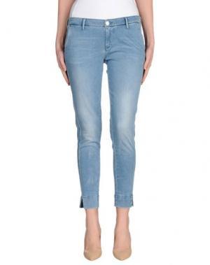 Джинсовые брюки 0/ZERO CONSTRUCTION. Цвет: синий