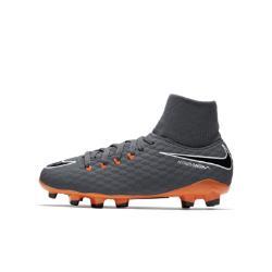 Футбольные бутсы для игры на твердом грунте дошкольников/школьников  Jr. Hypervenom Phantom III Academy Dynamic Fit FG Nike. Цвет: серый