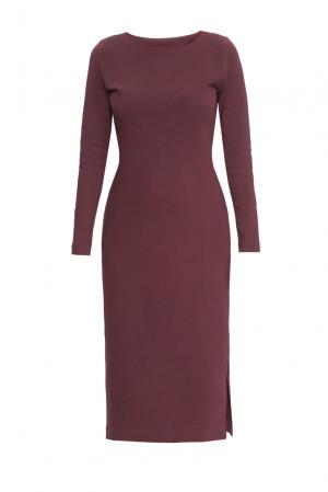 Трикотажное платье из хлопка 165180 Villa Turgenev. Цвет: красный