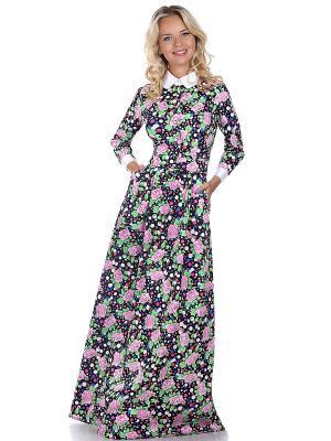 Платье OLIVEGREY. Цвет: черный, салатовый, розовый