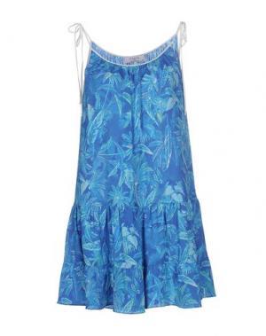 Короткое платье AXARA PARIS. Цвет: синий