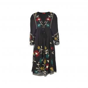 Платье с вышивкой Saga RENE DERHY. Цвет: черный