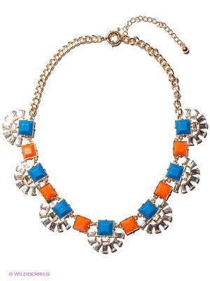 Колье Milana Style. Цвет: золотистый, синий