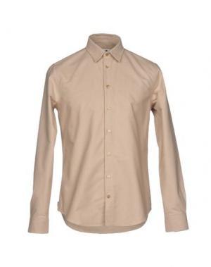 Джинсовая рубашка MSGM. Цвет: песочный