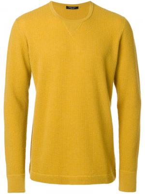 Фактурный свитер Roberto Collina. Цвет: жёлтый и оранжевый