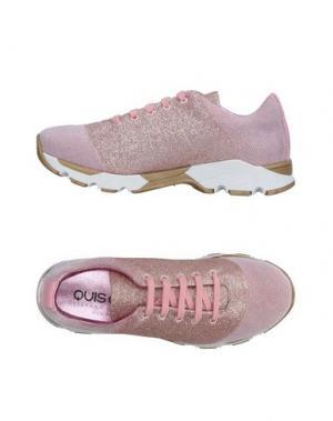 Низкие кеды и кроссовки QUIS. Цвет: пастельно-розовый