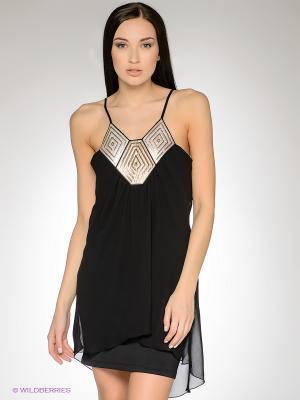 Платье FRENCH HINT. Цвет: черный, светло-бежевый