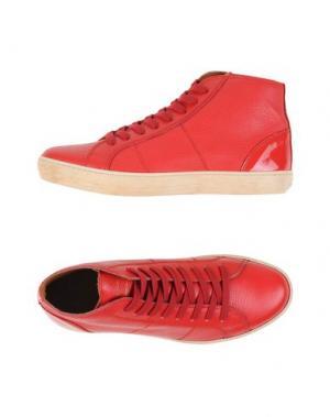 Высокие кеды и кроссовки PANTOFOLA D'ORO. Цвет: красный
