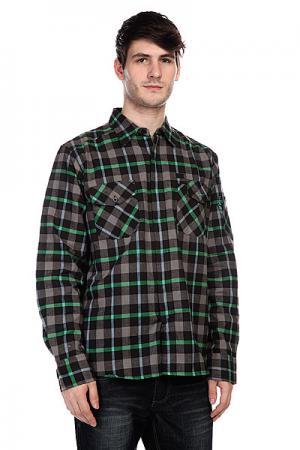 Рубашка в клетку  Fester Kelly Green Innes. Цвет: серый,черный,зеленый