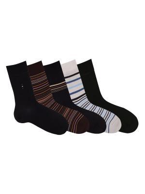 Носки, 5 пар Akos. Цвет: черный, коричневый, светло-серый