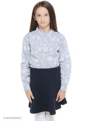 Блузка JERRY JOY. Цвет: голубой
