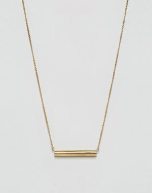 Made Золотистое ожерелье с планкой. Цвет: золотой