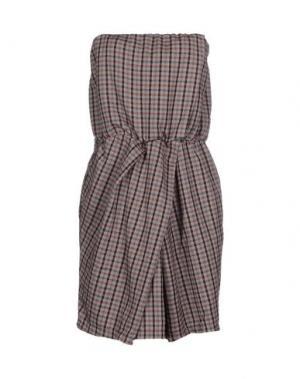 Короткое платье MANILA GRACE. Цвет: серый