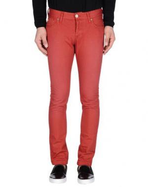 Джинсовые брюки SCOTCH & SODA. Цвет: ржаво-коричневый