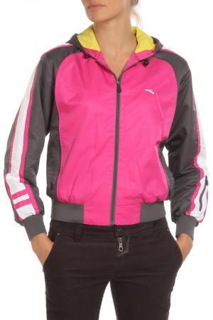 Куртка спортивная ANTA. Цвет: малиново-серый