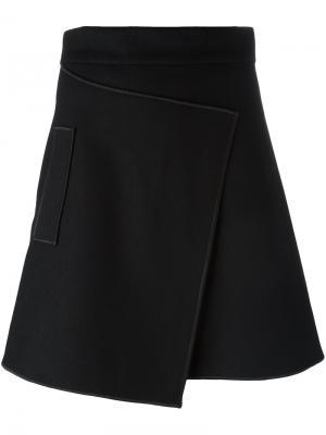 Короткая юбка Carven. Цвет: чёрный