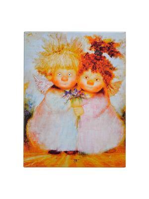 Картина На вас не налюбоваться Artangels. Цвет: белый, оранжевый, розовый