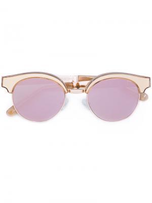 Солнцезащитные очки Cleopatra Le Specs. Цвет: жёлтый и оранжевый
