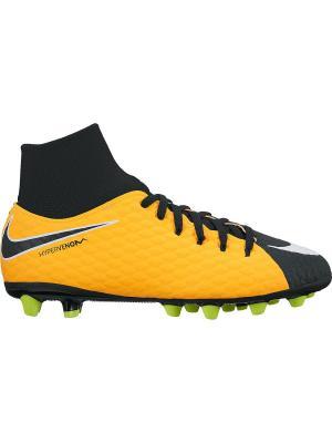 Бутсы JR HYPERVENOM PHELN 3 DF AGPRO Nike. Цвет: оранжевый, белый