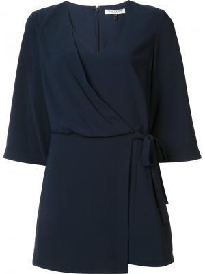 Платье с запахом Halston Heritage. Цвет: синий