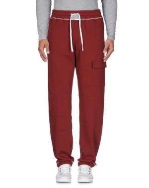 Повседневные брюки FUTUR. Цвет: красно-коричневый