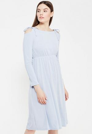 Платье LOST INK. Цвет: голубой