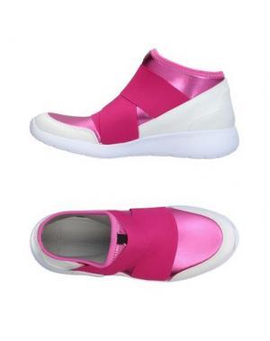 Высокие кеды и кроссовки FESSURA. Цвет: фуксия