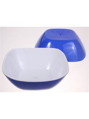 Салатница малая, 270 мл, синяя, набор 2 штуки Радужки. Цвет: синий