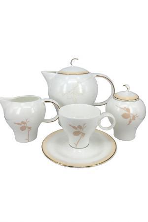 Чайный сервиз Шёлк 15 пр. Tognana. Цвет: белый