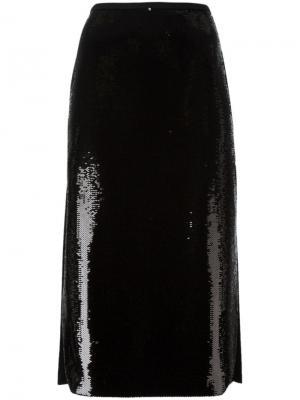 Декорированная  юбка Rochas. Цвет: чёрный