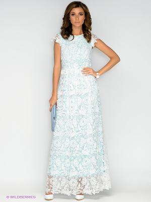 Платье Ksenia Knyazeva. Цвет: белый, голубой