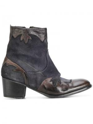Ковбойские ботинки Ink. Цвет: синий