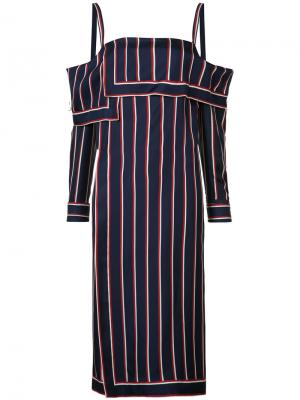 Striped bardot tunic Monse. Цвет: синий