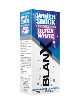 Зубная паста Бланкс Вайт Шок Ультра BlanX White Shock Ultra. Цвет: белый