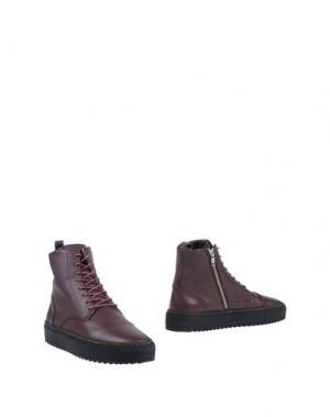 Полусапоги и высокие ботинки ANDROID HOMME. Цвет: баклажанный