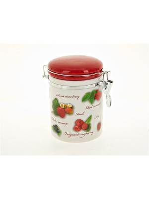 Банка для сыпучих продуктов Садовая ягода, Polystar. Цвет: красный