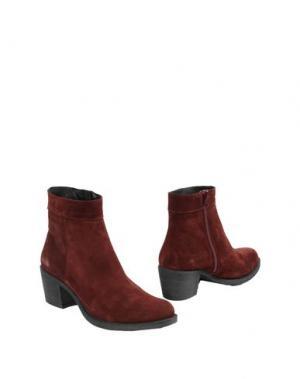 Полусапоги и высокие ботинки MAISON SHOESHIBAR. Цвет: красно-коричневый