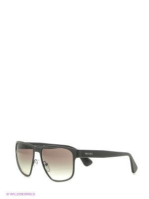 Солнцезащитные очки PRADA. Цвет: черный