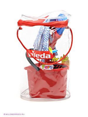Набор для уборки FARO. Цвет: красный, белый, синий