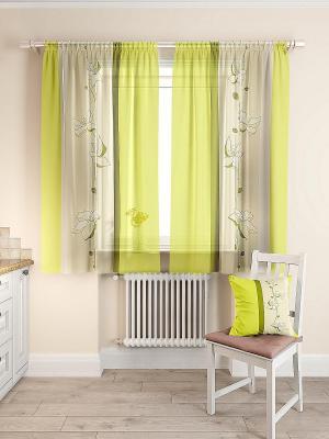 Комплект  штор Лисма ТОМДОМ. Цвет: зеленый