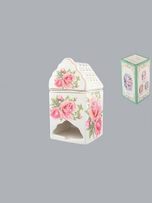 Банка для чайных пакетиков Розовая фантазия Elan Gallery. Цвет: розовый, белый