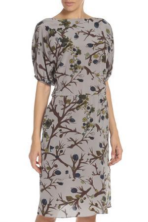 Платье Marni. Цвет: rg612 серый,коричневый,синий