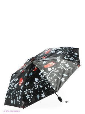 Зонт Zemsa. Цвет: черный, голубой