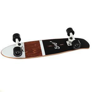 Скейт мини круизер  Shelby Black 7.25 x 27 (68.5 см) Eastcoast. Цвет: черный,коричневый